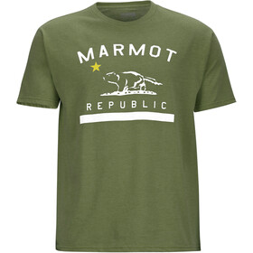 Marmot M's Republic SS Tee Olive Heather
